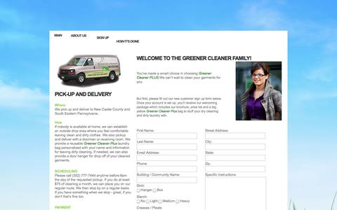 Screenshot of Signup Page greenercleanerplus.com - Greener Cleaner Plus! - SignUp - captured Sept. 30, 2014