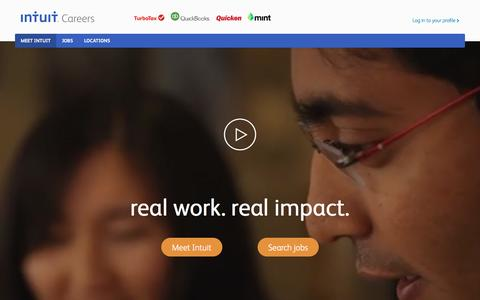 Screenshot of Jobs Page intuit.com - Explore Career and Job Opportunities at Intuit – Intuit Careers - captured Nov. 26, 2015