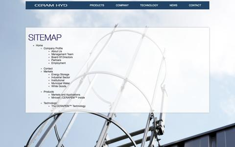 Screenshot of Site Map Page ceramhyd.com - CeramHyd  Sitemap - CeramHyd - captured June 17, 2015