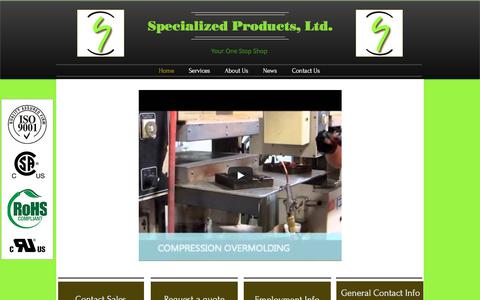 Screenshot of Home Page specializedproductsltd.com - Specialized Products, Ltd. - captured Nov. 14, 2017