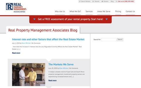 Screenshot of Blog associatesrpm.com - Cape Cod MA Property Management Blog   Real Property Management Associates - captured July 8, 2018