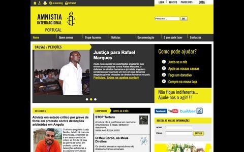 Screenshot of Home Page amnistia-internacional.pt - Amnistia Internacional Portugal - captured Oct. 11, 2015