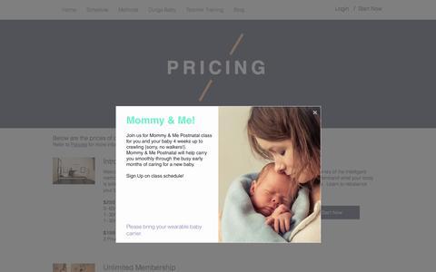 Screenshot of Pricing Page pilatesandcompany.com - Pilates Studio | NJ | Pilates & Company | Pricing - captured May 18, 2017