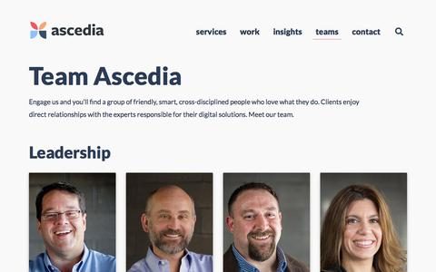 Screenshot of Team Page ascedia.com - Our Teams | Web Designers, Developers, Marketers | Ascedia Consulting - captured Oct. 14, 2019