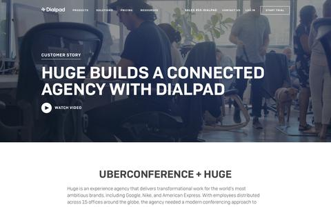 Huge empowers the anywhere creative with UberConference by Dialpad