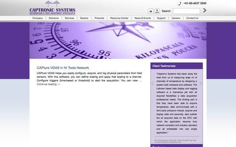 Screenshot of Press Page captronicsystems.com - News & Events   Captronic Systems Pvt Ltd - captured Sept. 12, 2014