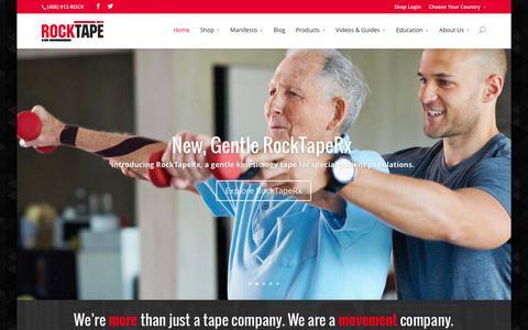 Screenshot of Home Page rocktape.com - RockTape | Kinesiology Tape - Go Stronger, Longer. - captured Jan. 11, 2016