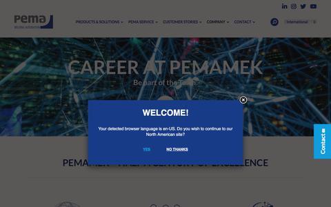 Screenshot of Jobs Page pemamek.com - Open job positions and opportunities | Pemamek - captured Jan. 26, 2020