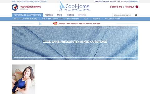 Screenshot of FAQ Page cool-jams.com - Cool-jams Frequently Asked Questions - captured Oct. 31, 2014