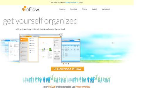 Screenshot of Home Page inflowinventory.com - inFlow Inventory Software | Inventory System - captured Sept. 22, 2014
