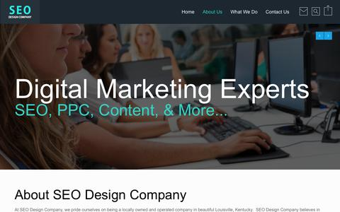 Screenshot of About Page seodesigncompany.com - About SEO Design Company - Louisville, KY - captured Oct. 3, 2014