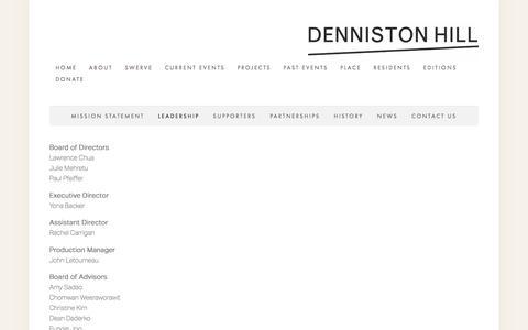 Screenshot of Team Page dennistonhill.org - Leadership — Denniston Hill - captured March 10, 2018