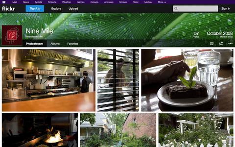Screenshot of Flickr Page flickr.com - Flickr: ninemileasheville's Photostream - captured Oct. 26, 2014
