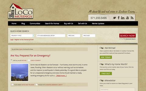 Screenshot of Press Page locomusings.com - News - captured Oct. 3, 2014