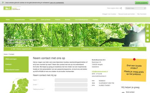 Screenshot of Contact Page buitenbusiness.nl - Contact, neem contact met ons op - BuitenBusiness.nl - captured Nov. 23, 2016