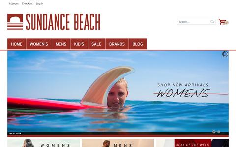 Screenshot of Home Page About Page Privacy Page Contact Page Site Map Page Login Page sundancebeach.com - Sundance Beach   Bikinis & Boardshorts - captured Sept. 24, 2014