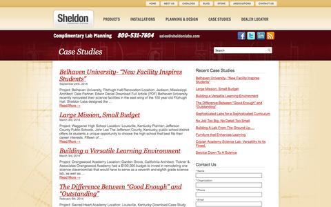 Screenshot of Case Studies Page sheldonlabs.com - Case Study | Sheldon Labs - captured Oct. 26, 2014
