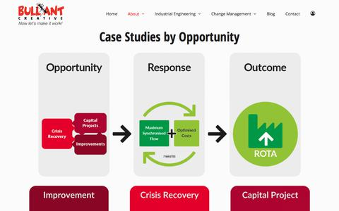 Screenshot of Case Studies Page bullantcreative.com - Case Studies | Bullant Creative - captured Aug. 4, 2018