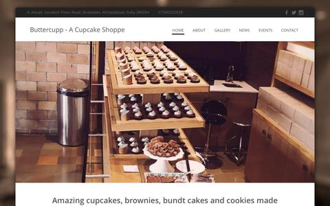 Screenshot of Home Page buttercupp.com - Buttercupp - A Cupcake Shoppe - captured March 2, 2016