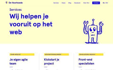 Screenshot of Services Page voorhoede.nl - Services | De Voorhoede - captured Dec. 15, 2018