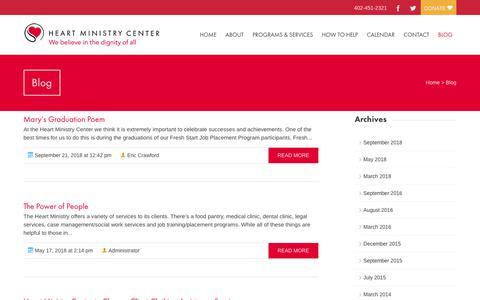 Screenshot of Blog heartministrycenter.org - Blog   Heart Ministry Center - captured Sept. 28, 2018