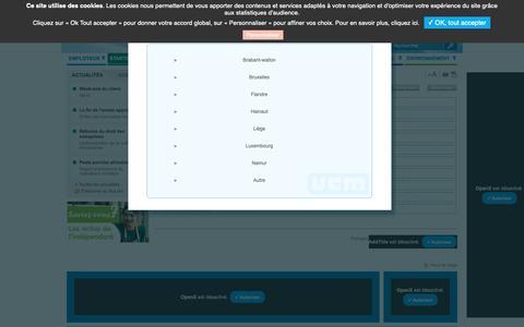 Screenshot of FAQ Page ucm.be - UCM - FAQ / FAQ & Documents / Starter et indépendant / Accueil UCM - captured Oct. 21, 2018