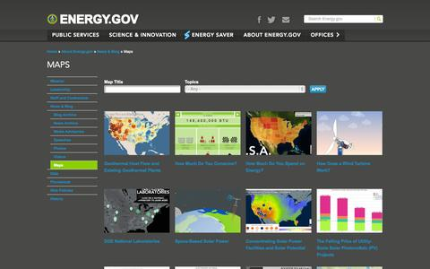Screenshot of Maps & Directions Page energy.gov - Maps | Department of Energy - captured Oct. 29, 2014