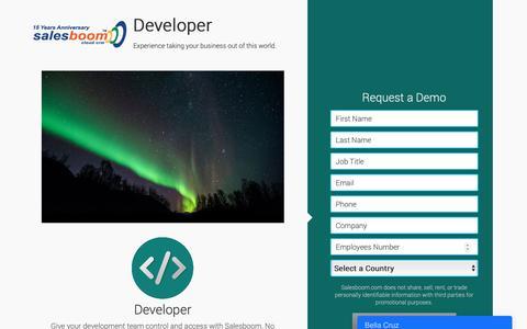 Screenshot of Developers Page salesboom.com - Salesboom - Developer - captured Dec. 13, 2018