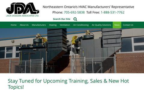 Screenshot of Press Page jdaltd.ca - Jack Dougan Associates Ltd.   News - captured Oct. 16, 2017
