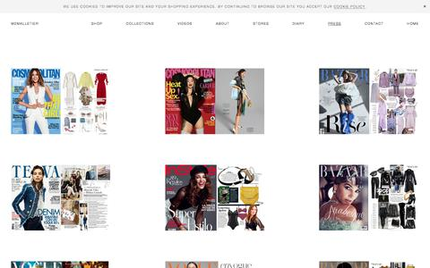 Screenshot of Press Page m2malletier.com - Press \ M2Malletier Luxury Leather Bags - captured Oct. 7, 2019