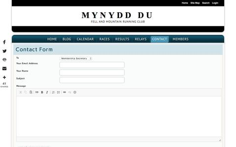 Screenshot of Contact Page Signup Page mynydd-du.org.uk - Contact - Mynydd Du - captured July 3, 2018