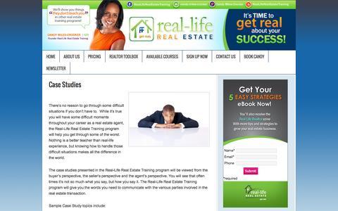 Screenshot of Case Studies Page rlretraining.com - Frustrated Real Estate Agent, Real Estate Agent Training, Real Estate Agent Coaching | Real Life Real Estate Training - captured Oct. 7, 2014