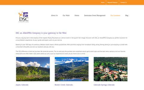 Screenshot of Locations Page dsc-co.com - Locations | Destination Services (DSC) - captured Oct. 7, 2018