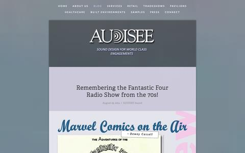 Screenshot of Blog audisee.com - Blog — Audisee - captured Sept. 30, 2014