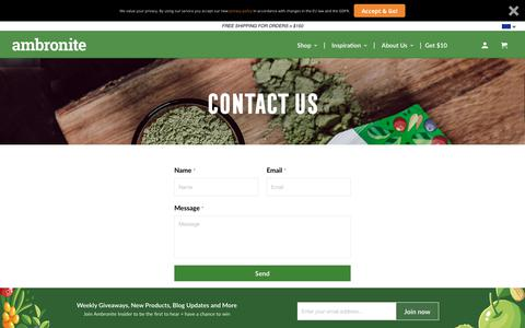 Screenshot of Contact Page ambronite.com - Contact Us - Ambronite US - captured June 9, 2019