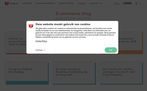 Screenshot of Blog baldwin.be - E-commerce blog | Baldwin, het e-commerce bureau - captured Aug. 1, 2018