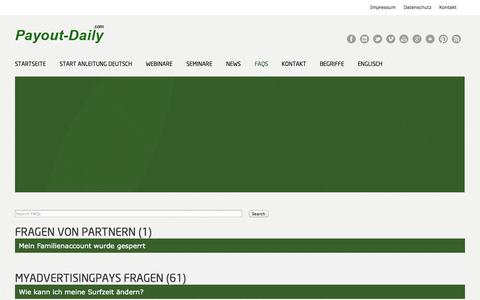 Screenshot of FAQ Page payout-daily.com - Faqs - Payout Daily - captured Oct. 30, 2014