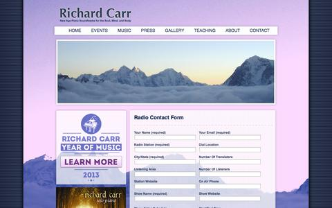 Screenshot of Login Page richardcarr.com - Radio Contact Form | Richard Carr - captured Oct. 26, 2014