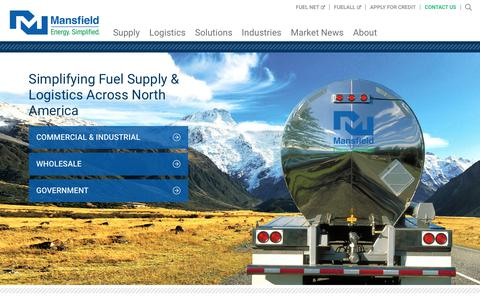 Screenshot of Home Page mansfield.energy - Energy. Simplified. - Mansfield Energy Corp - captured Nov. 12, 2018