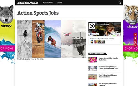 Screenshot of Jobs Page sessioned.com - Action Sports Jobs – Sessioned.com - captured Feb. 24, 2016