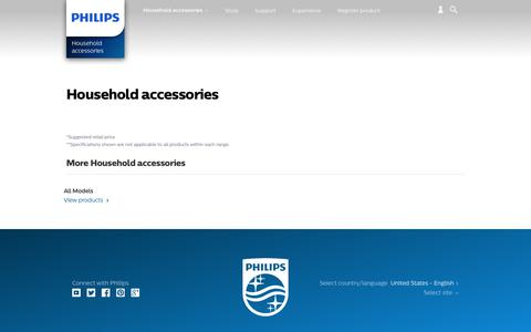 Screenshot of philips.com - Household accessories. Discover the full range | Philips - captured Aug. 7, 2017
