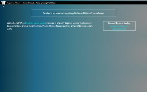 Screenshot of About Page penciledin.com - Penciled In : Established 2004 - captured Oct. 2, 2014