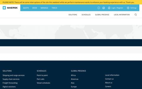 Screenshot of Home Page maersk.com - Maersk - The world's largest container shipping company. - captured Aug. 3, 2019