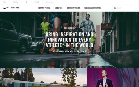 About Nike - The official corporate website for NIKE, Inc. and its affiliate brands.