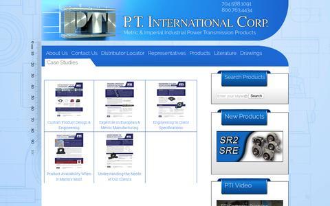 Screenshot of Case Studies Page ptintl.com - Case Studies | PT International Corp - captured Oct. 3, 2016