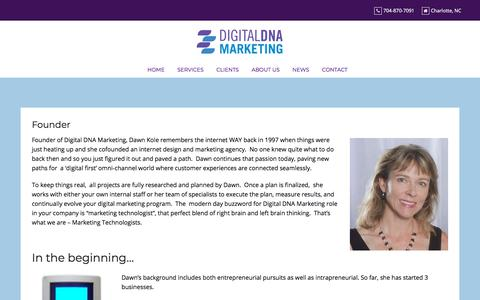 Screenshot of About Page digitaldnamarketing.com - Founder - Digital DNA Marketing - captured July 12, 2019