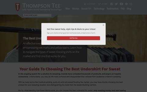Best Undershirts for Sweat