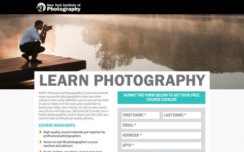 Screenshot of Landing Page nyip.edu - Learn Photography - New York Institute of Photography - captured Oct. 27, 2014