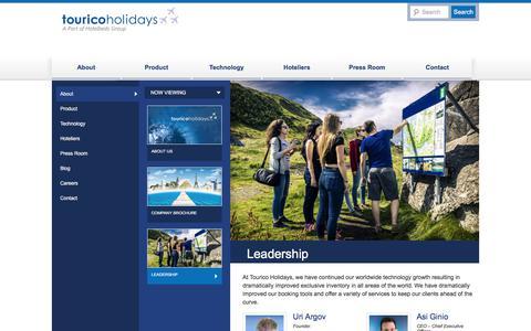 Screenshot of Team Page touricoholidays.com - Leadership - TouricoHolidays.comTouricoHolidays.com - captured Dec. 10, 2017