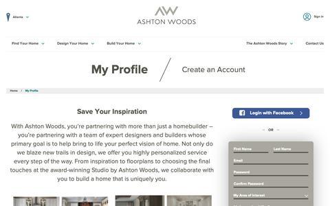 Screenshot of Login Page ashtonwoods.com - My Ashton Woods Profile | Ashton Woods - captured Nov. 13, 2018